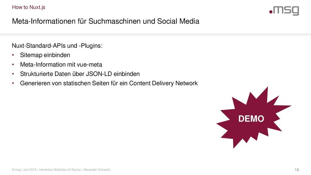 How to Nuxt.js Meta-Informationen für Suchmasch...