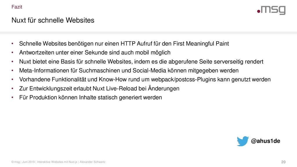 Fazit Nuxt für schnelle Websites • Schnelle Web...