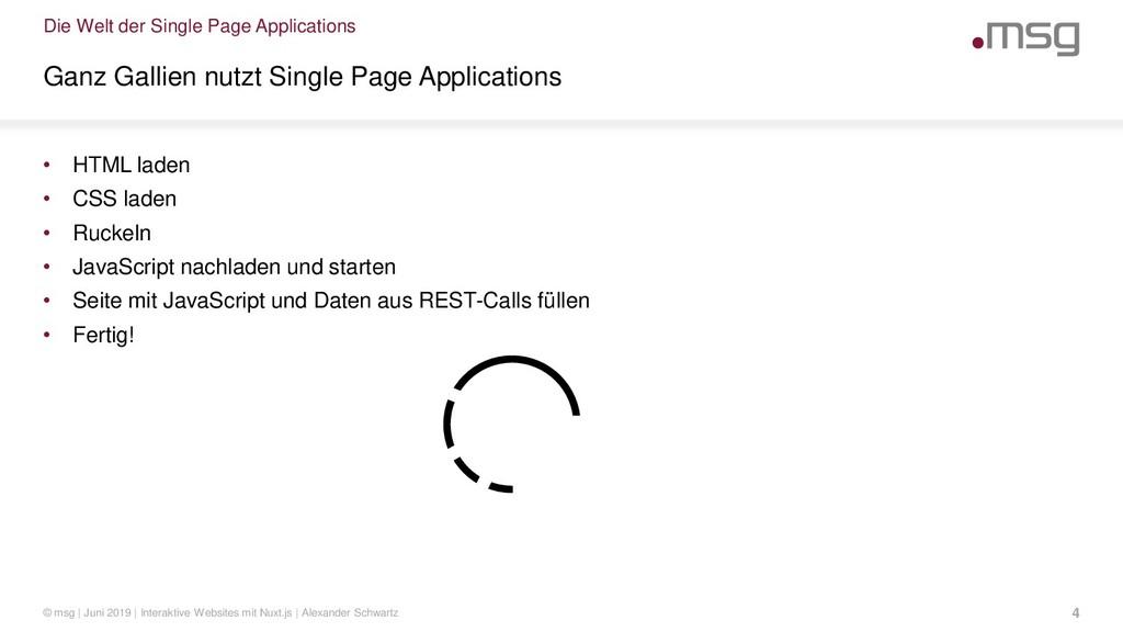 Die Welt der Single Page Applications Ganz Gall...