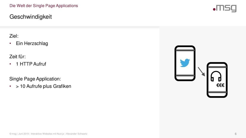 Die Welt der Single Page Applications Geschwind...