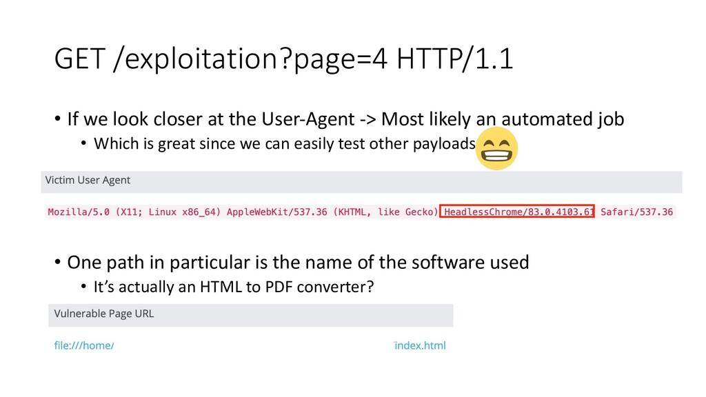 GET /exploitation?page=4 HTTP/1.1 • If we look ...