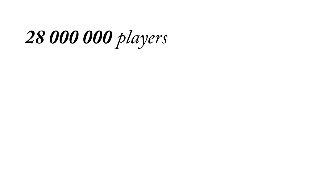 28 000 000 players