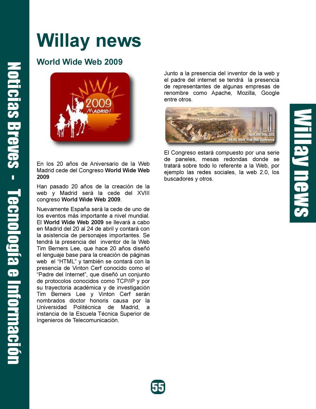 Willay news World Wide Web 2009 En los 20 años ...