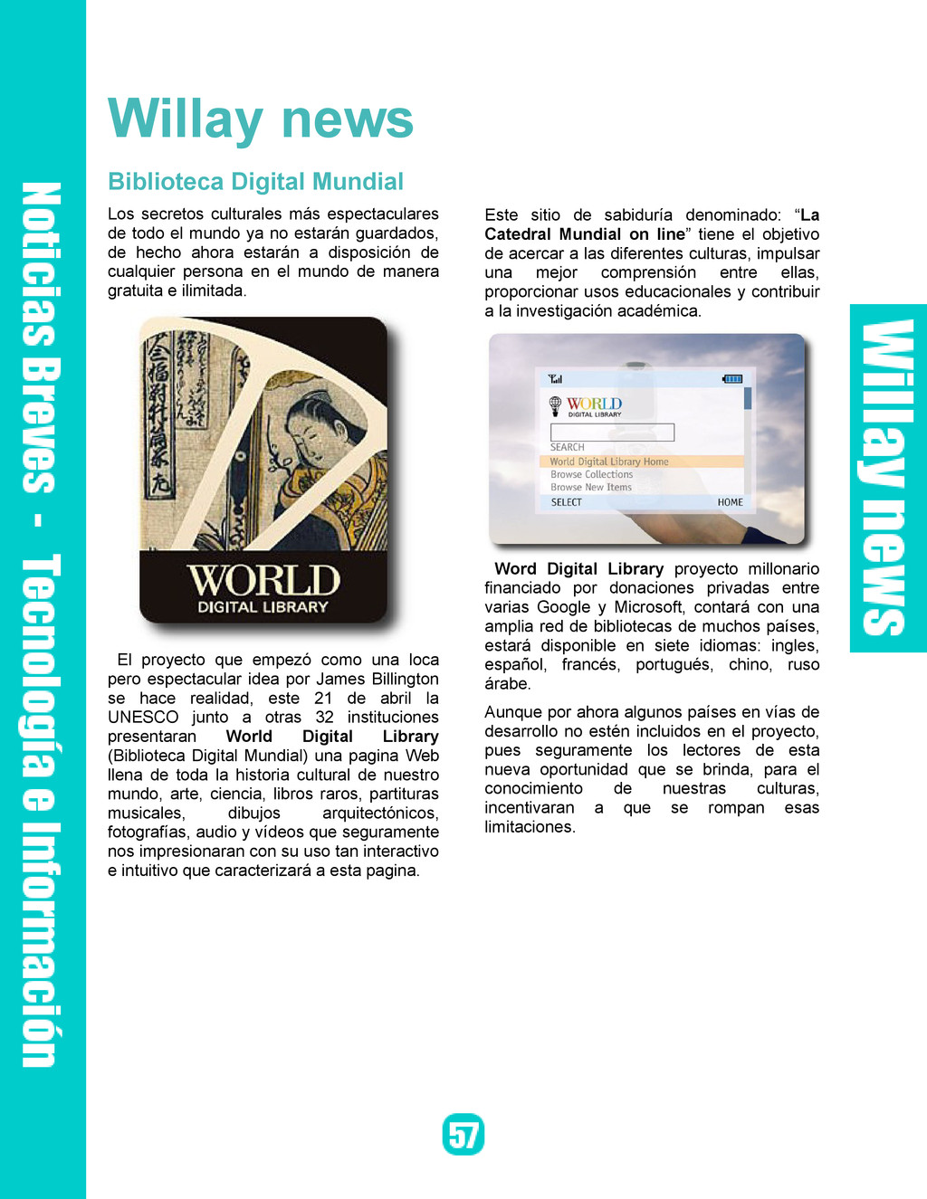 Willay news Biblioteca Digital Mundial Los secr...