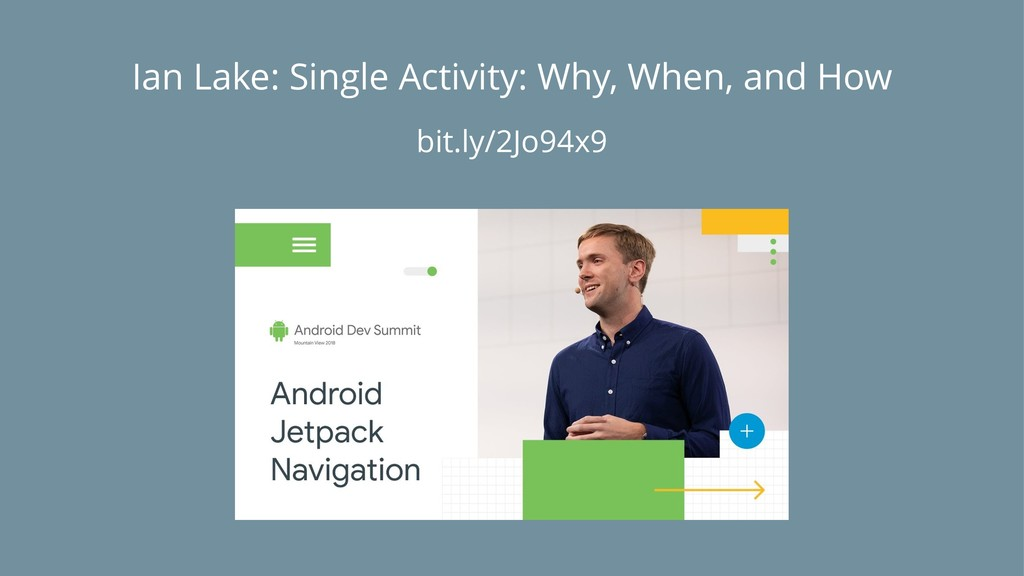 Ian Lake: Single Activity: Why, When, and How b...