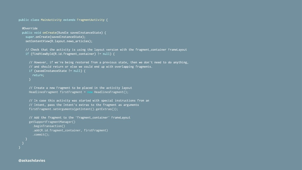 public class MainActivity extends FragmentActiv...