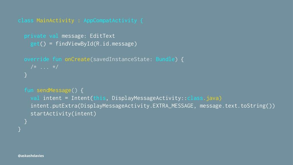 class MainActivity : AppCompatActivity { privat...