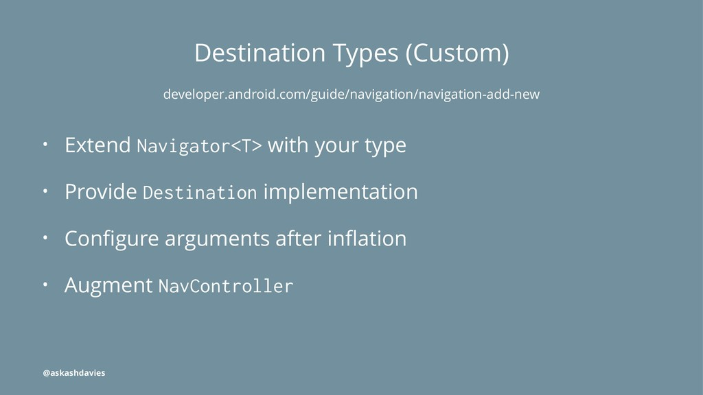 Destination Types (Custom) developer.android.co...