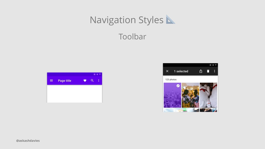 Navigation Styles Toolbar @askashdavies