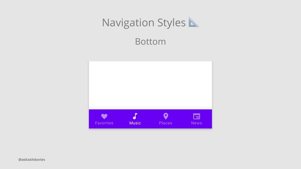 Navigation Styles Bottom @askashdavies
