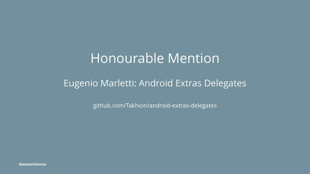 Honourable Mention Eugenio Marletti: Android Ex...