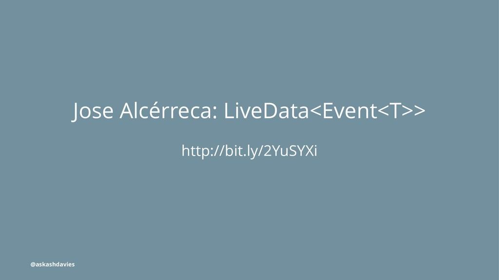 Jose Alcérreca: LiveData<Event<T>> http://bit.l...