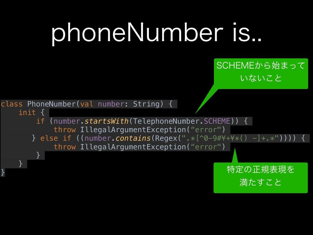 QIPOF/VNCFSJT class PhoneNumber(val number: ...