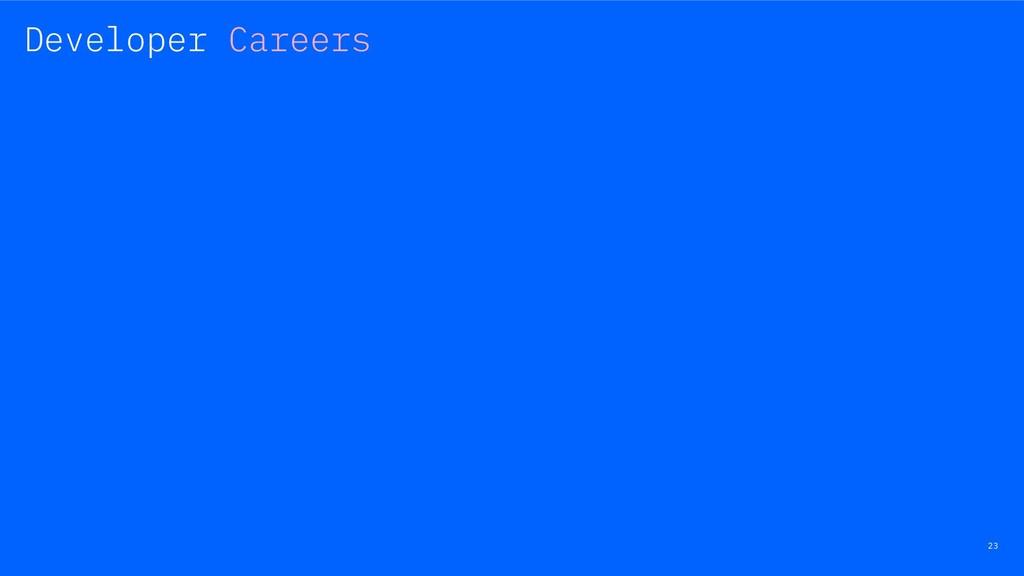 23 Developer Careers