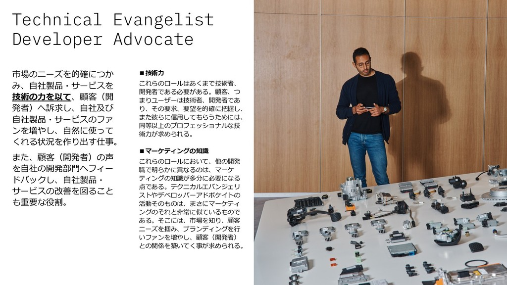 Technical Evangelist Developer Advocate 26 市場のニ...