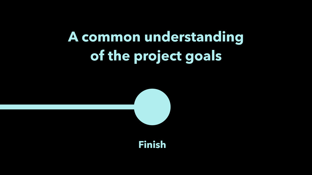 Finish A common understanding of the project go...