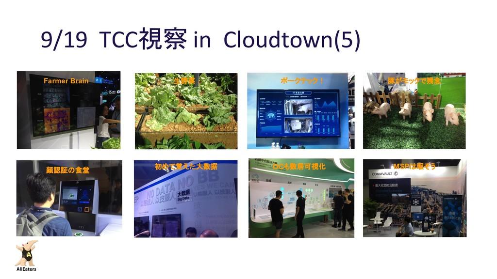 9/19 TCC視察 in Cloudtown(5) Farmer Brain 生野菜 フラッ...