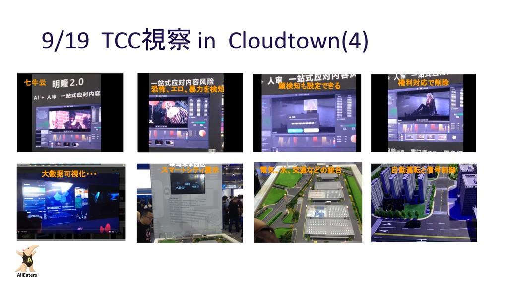 9/19 TCC視察 in Cloudtown(4) 七牛云 恐怖、エロ、暴力を検知 フラッシ...
