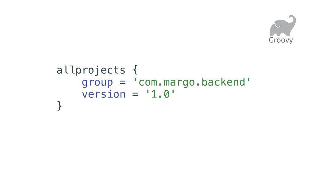 allprojects { group = 'com.margo.backend' versi...