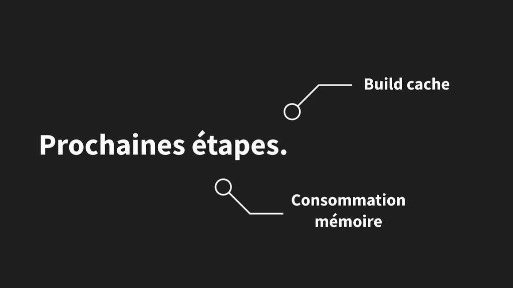 Prochaines étapes. Consommation mémoire Build c...