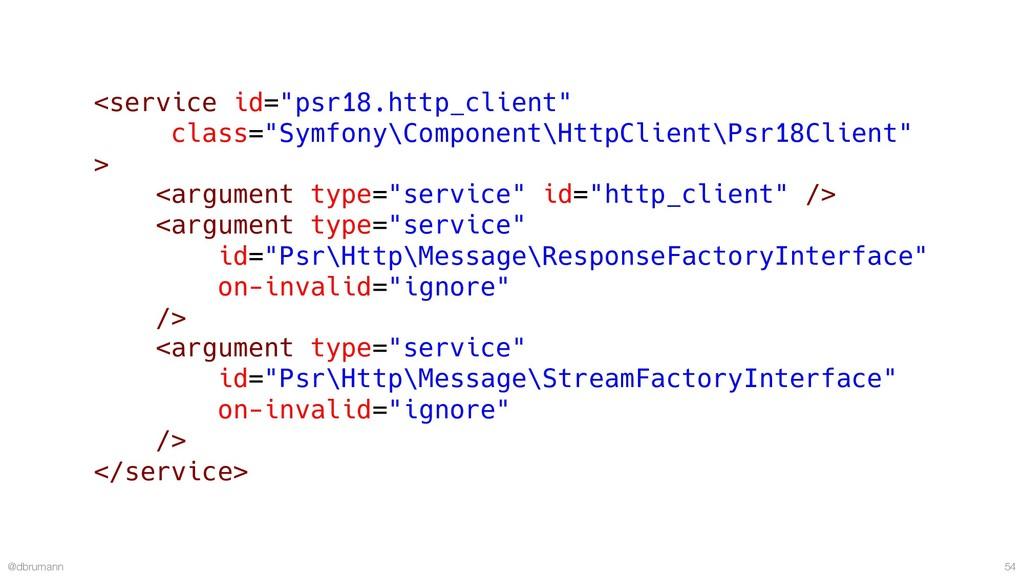 """@dbrumann 54 <service id=""""psr18.http_client"""" cl..."""