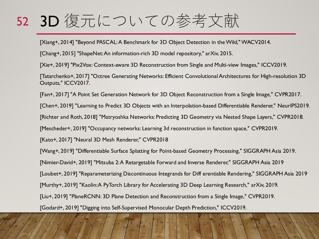 "3D 復元についての参考文献 [Xiang+, 2014] ""Beyond PASCAL: A..."