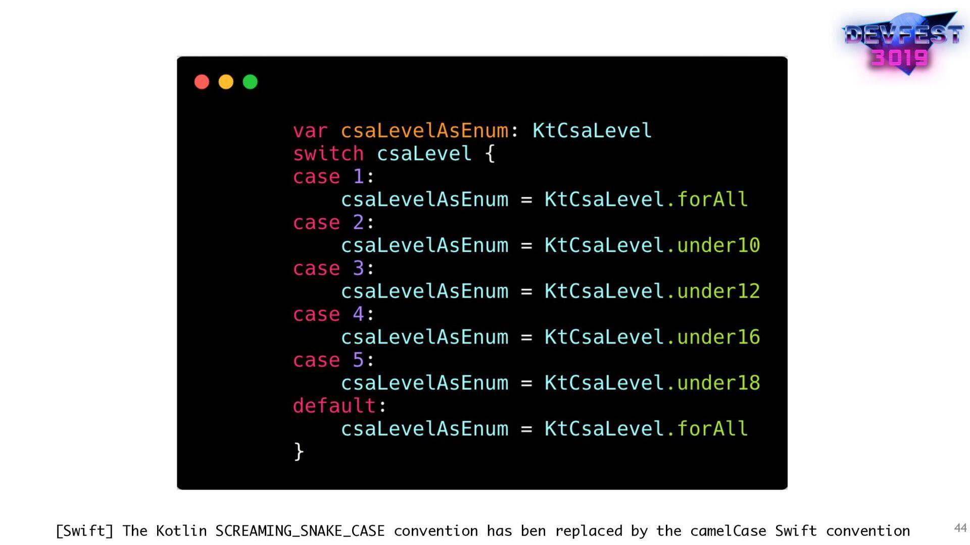 44 [Swift] The Kotlin SCREAMING_SNAKE_CASE conv...