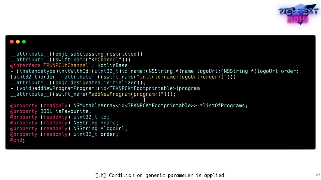 54 [.h] Condition on generic parameter is appli...