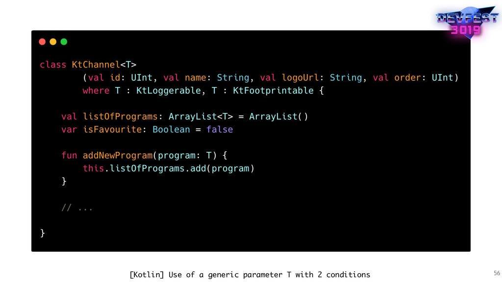 56 [Kotlin] Use of a generic parameter T with 2...