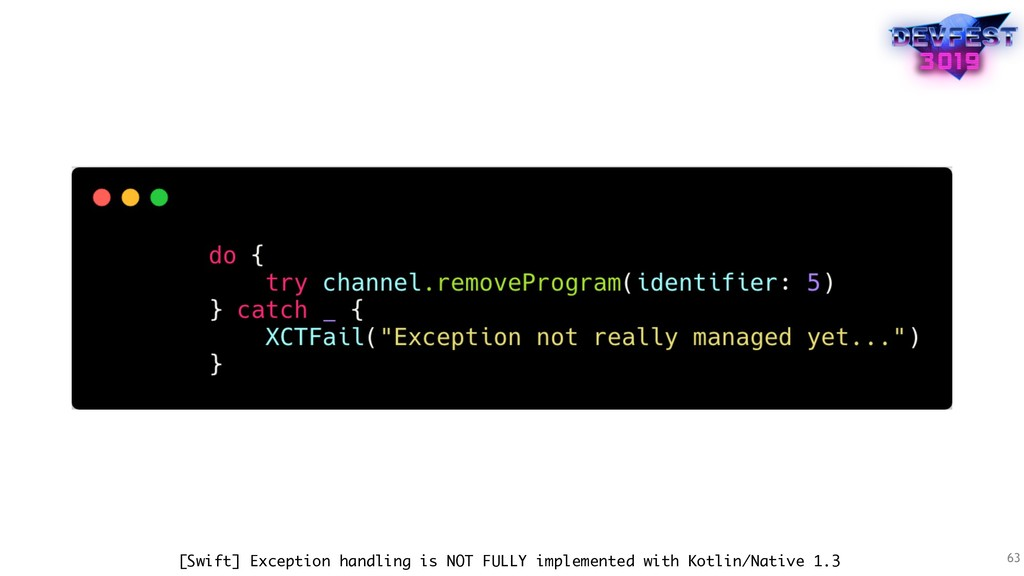 63 [Swift] Exception handling is NOT FULLY impl...