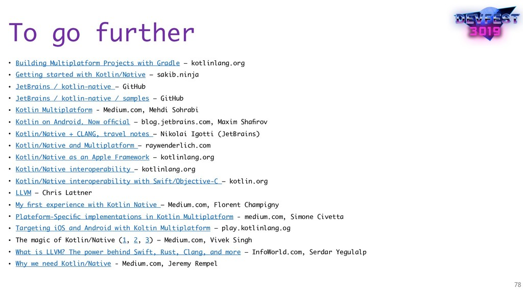 To go further • Building Multiplatform Projects...