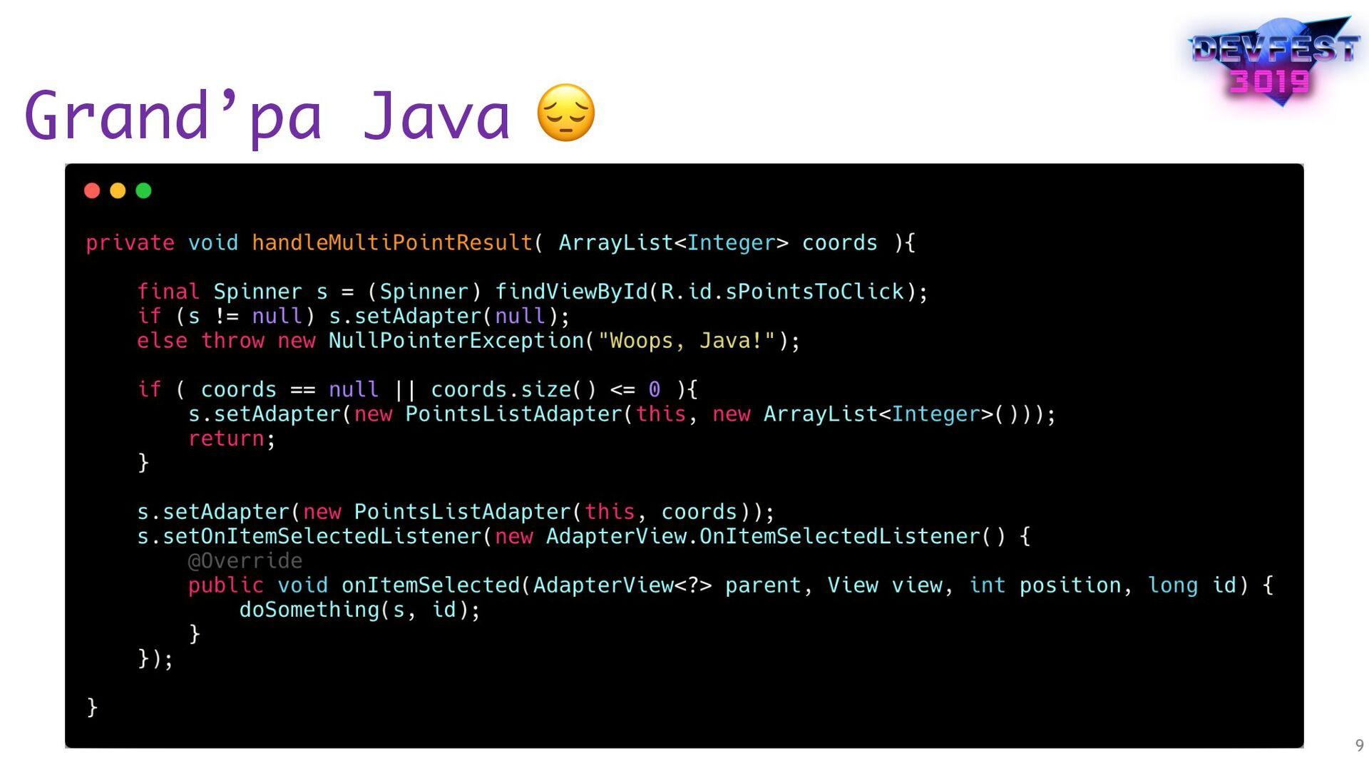 Grand'pa Java 9