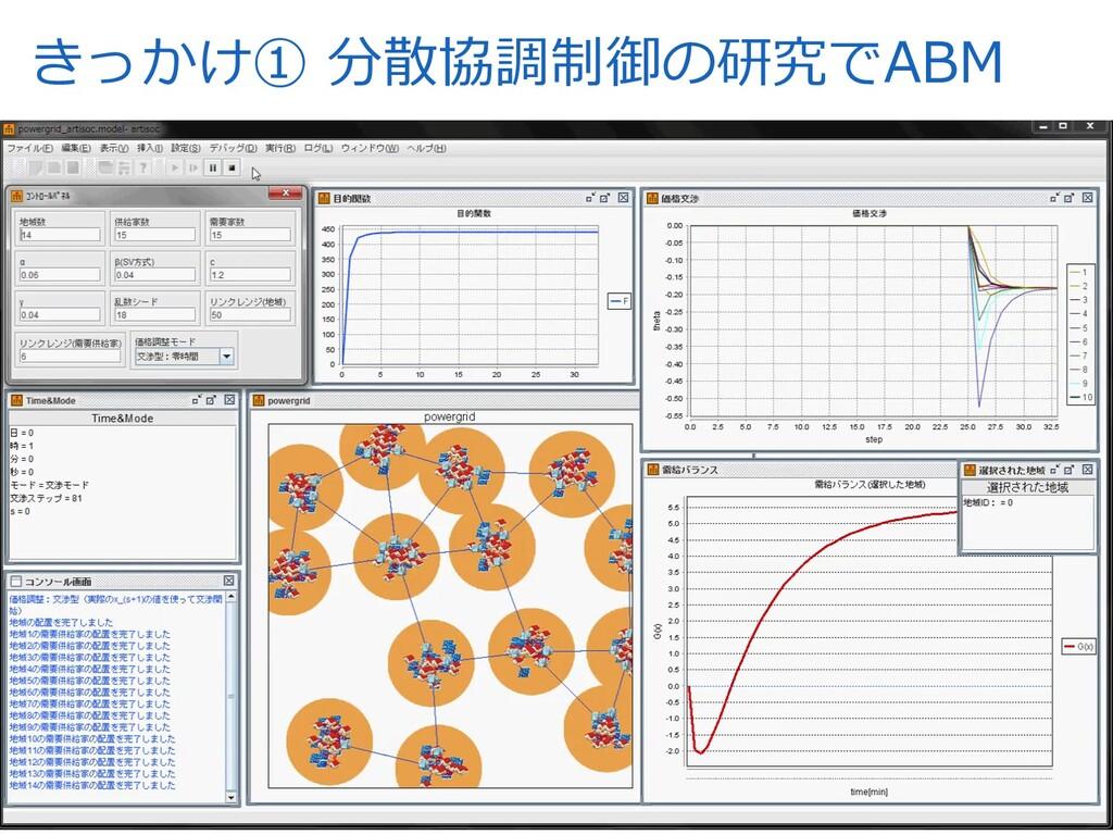 きっかけ① 分散協調制御の研究でABM