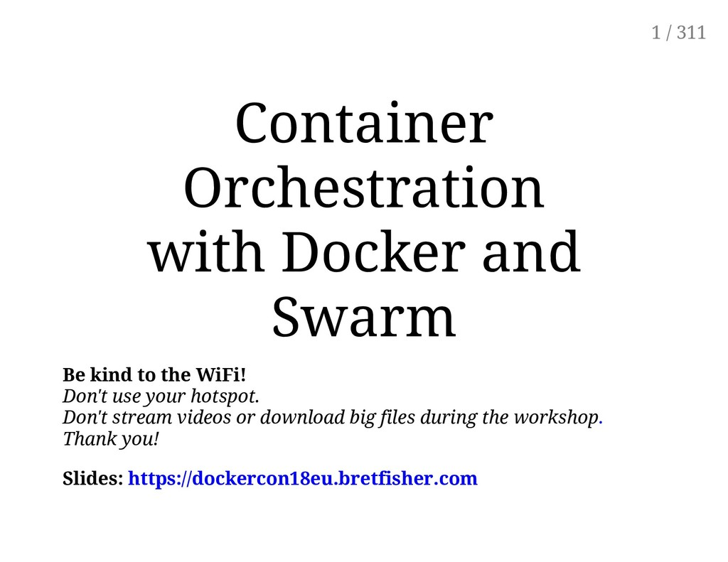 Container Orchestration with Docker and Swarm B...