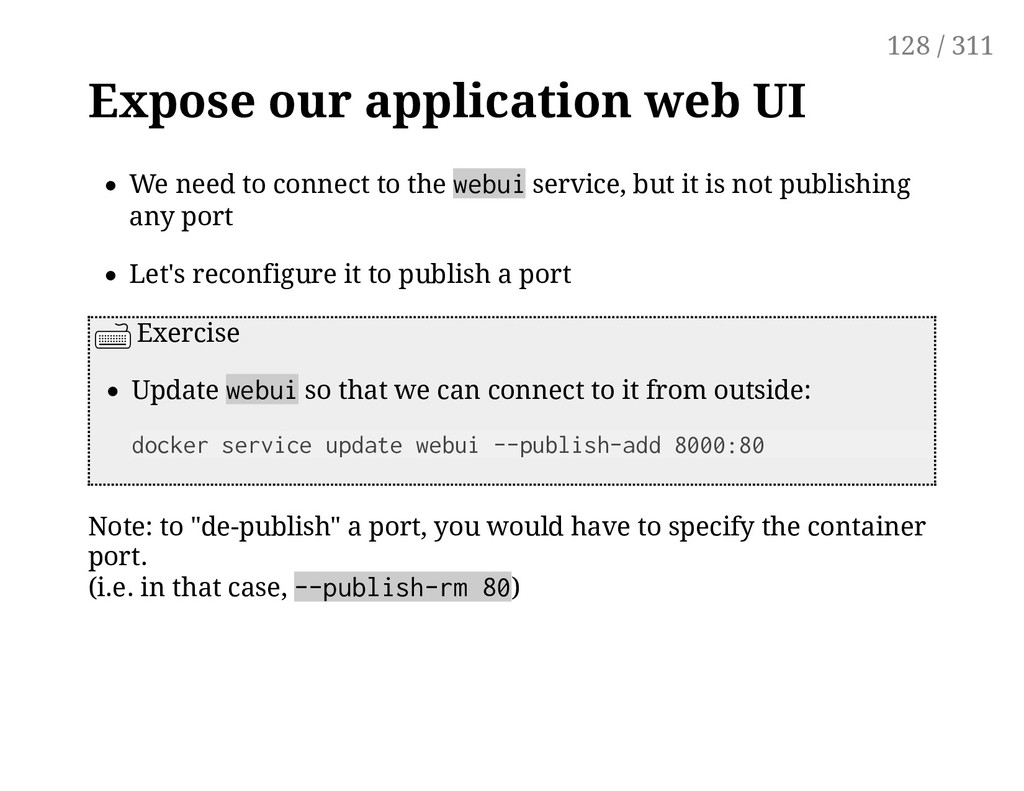 Expose our application web UI We need to connec...