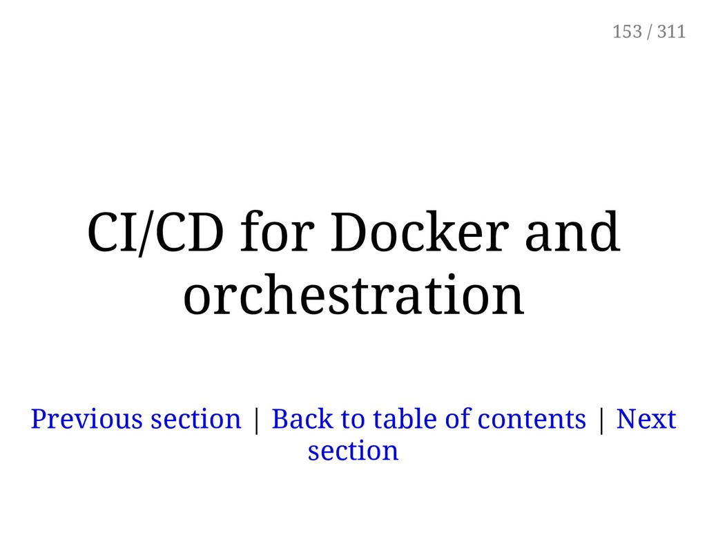 CI/CD for Docker and orchestration Previous sec...