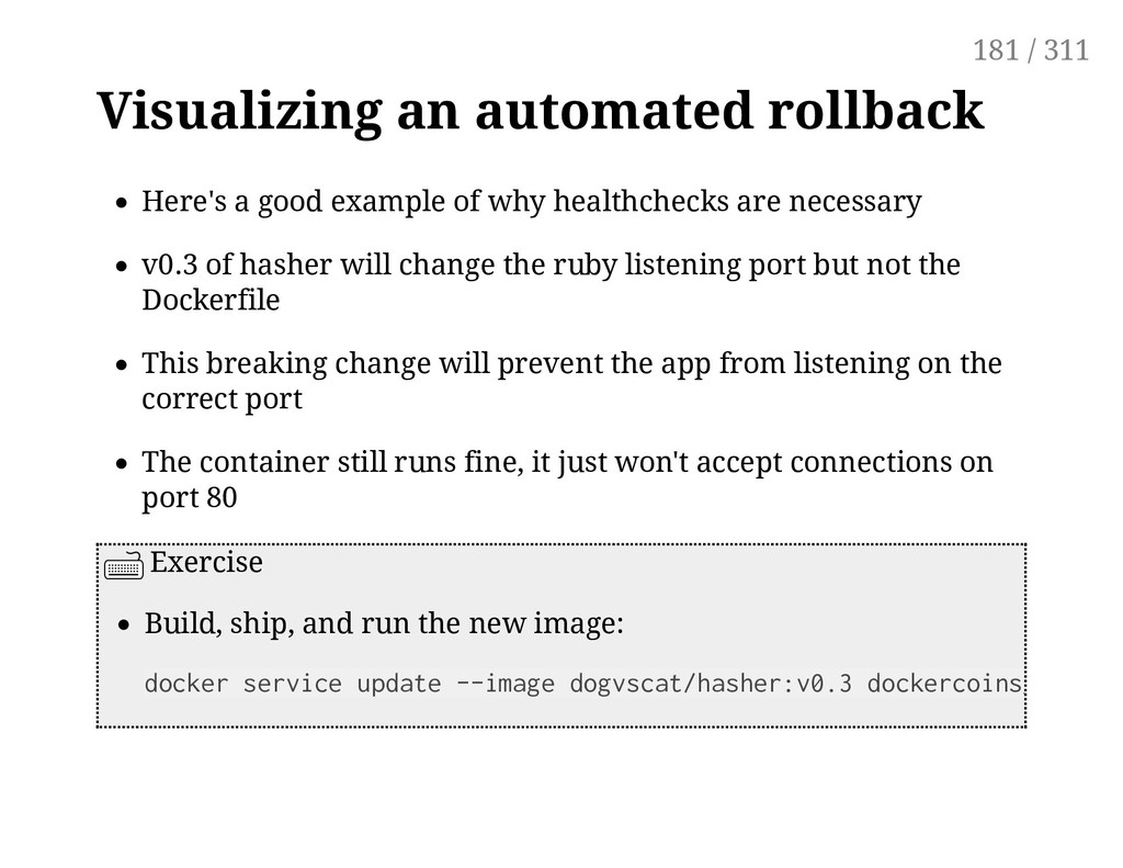 Visualizing an automated rollback Here's a good...
