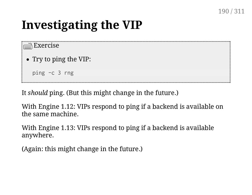 Investigating the VIP Exercise Try to ping the ...