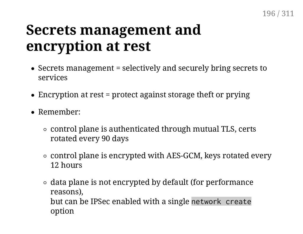 Secrets management and encryption at rest Secre...