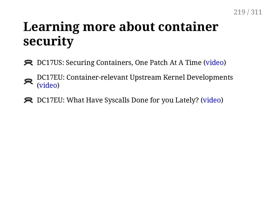 Learning more about container security DC17US: ...