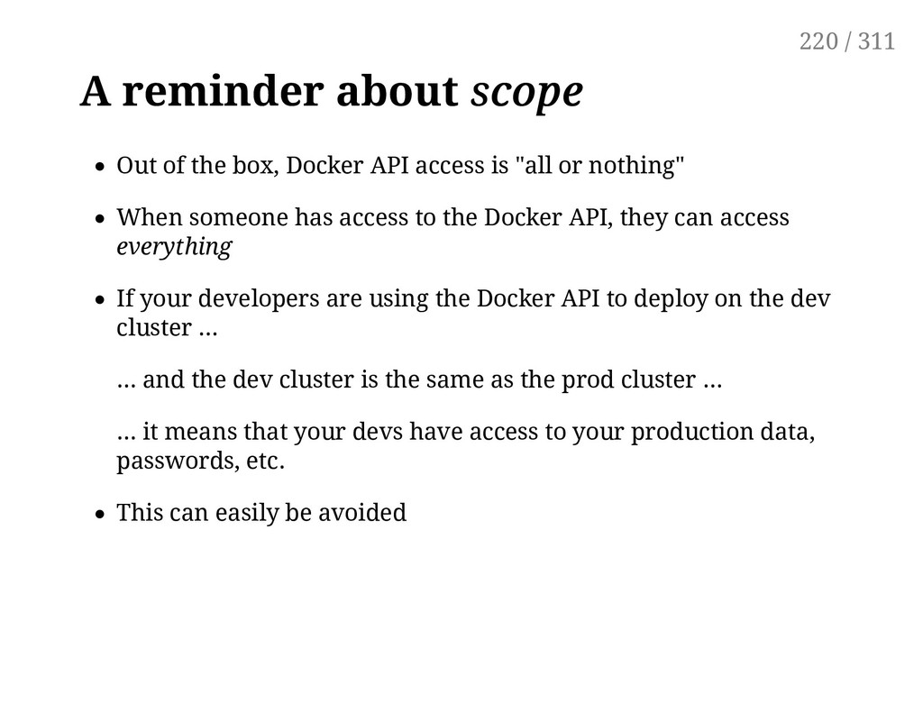 A reminder about scope scope Out of the box, Do...