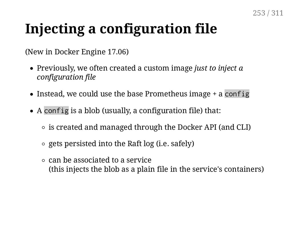 Injecting a configuration file (New in Docker E...