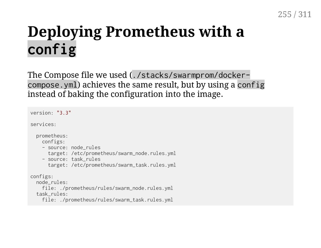 Deploying Prometheus with a config The Compose ...