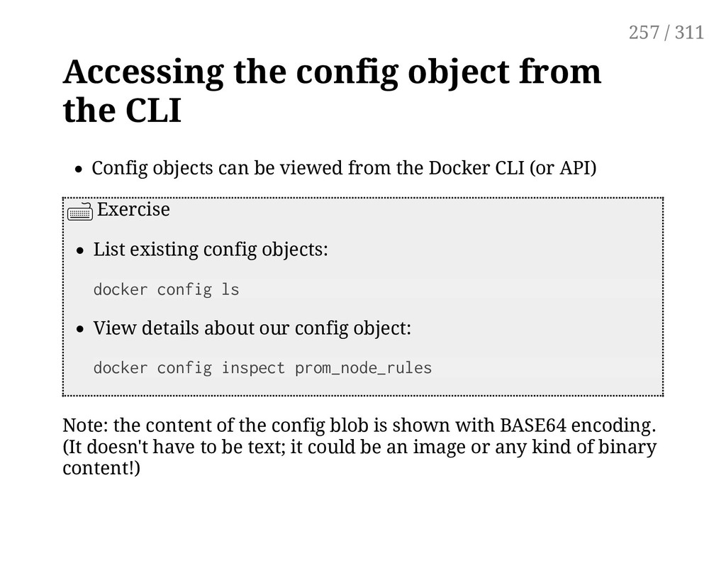 Accessing the config object from the CLI Config...