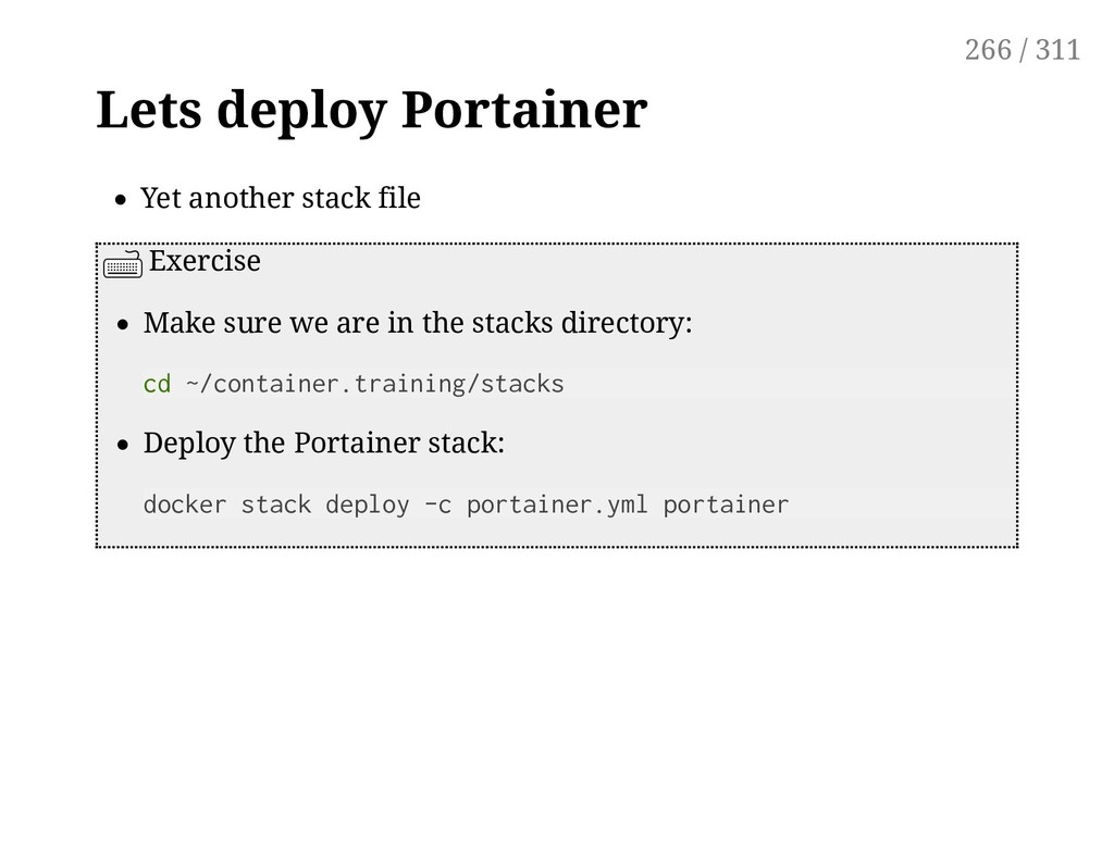 Lets deploy Portainer Yet another stack file Ex...