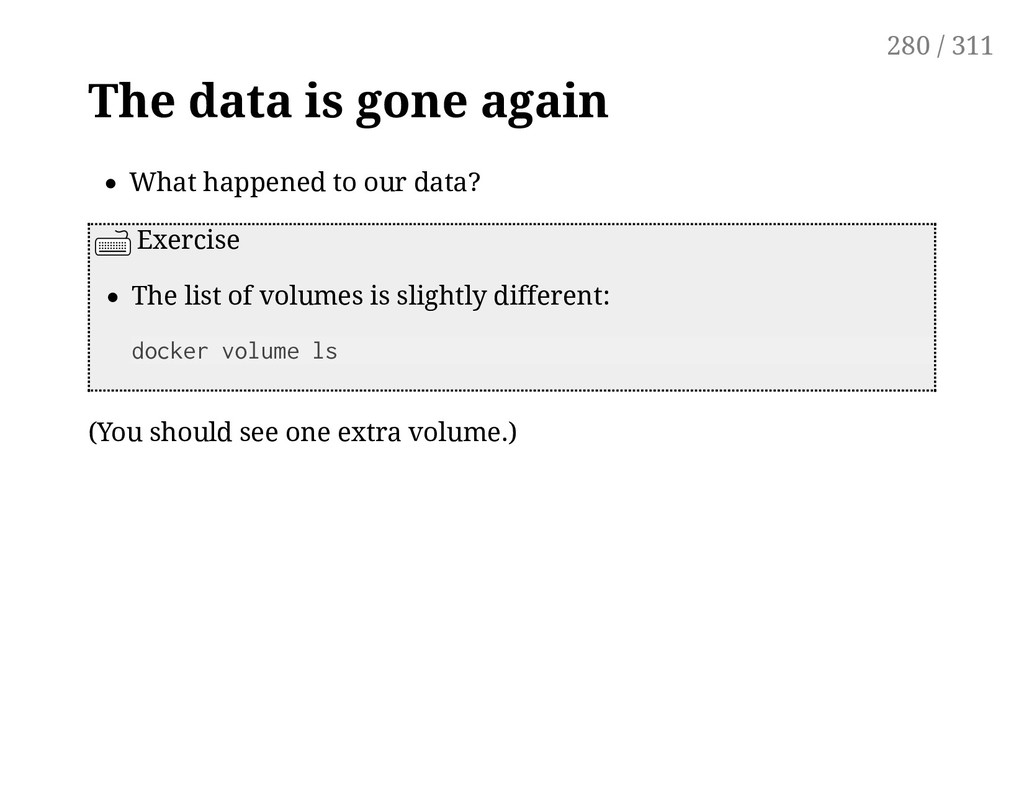 The data is gone again What happened to our dat...