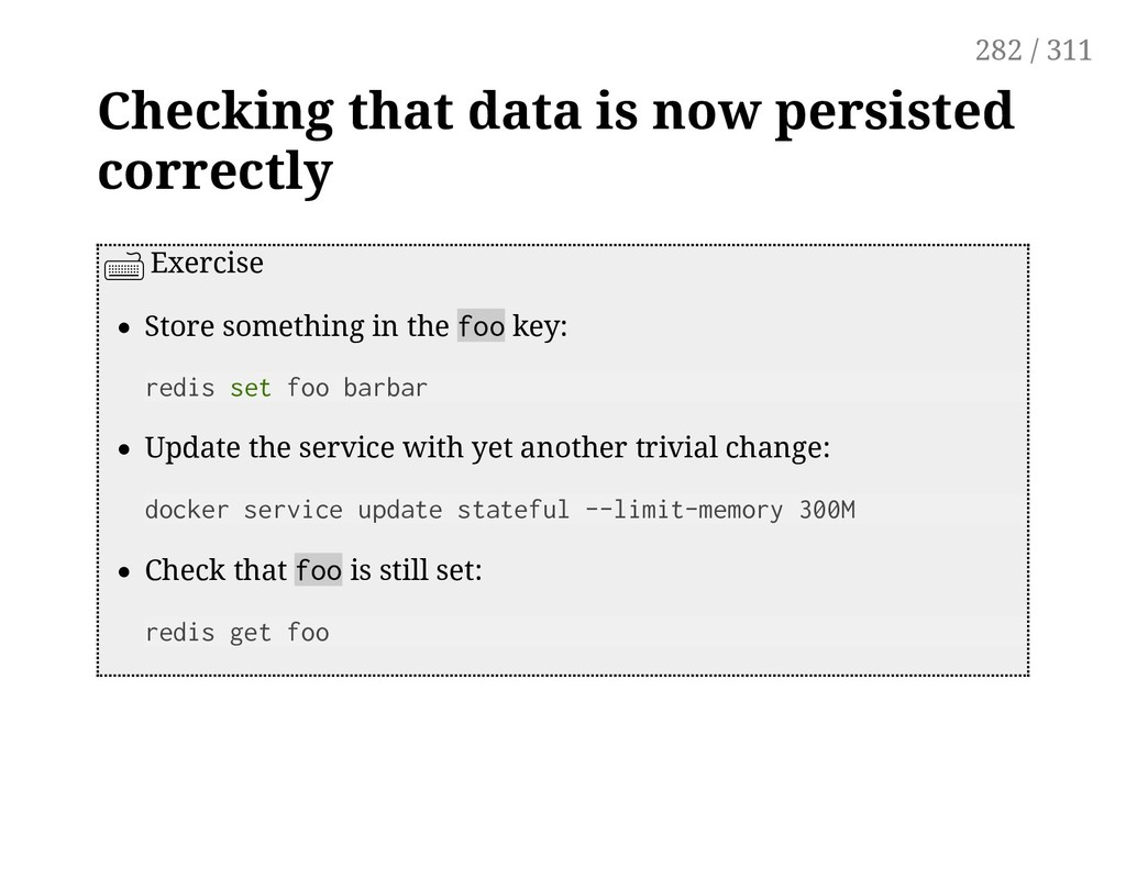 Checking that data is now persisted correctly E...