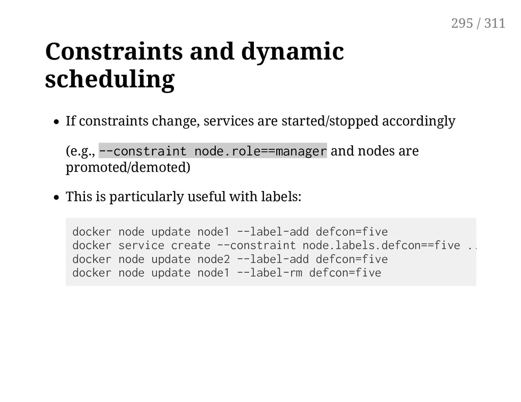 Constraints and dynamic scheduling If constrain...