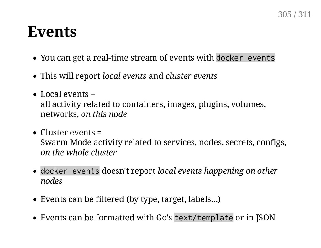 Events You can get a real-time stream of events...